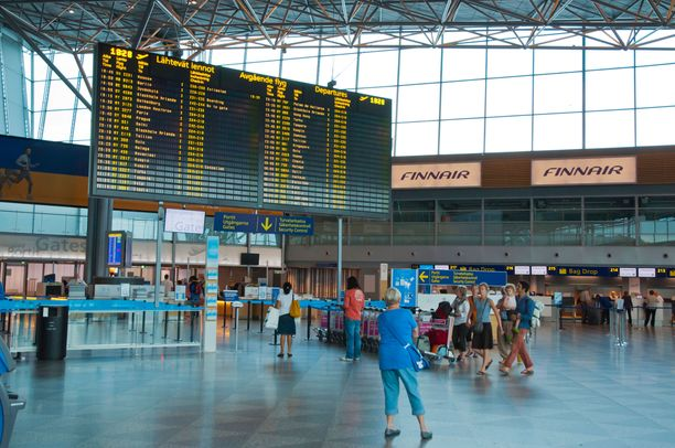 Ulosmarssilla on merkittäviä vaikutuksia Helsinki-Vantaan lentoaseman toimintaan. Kuvituskuva.