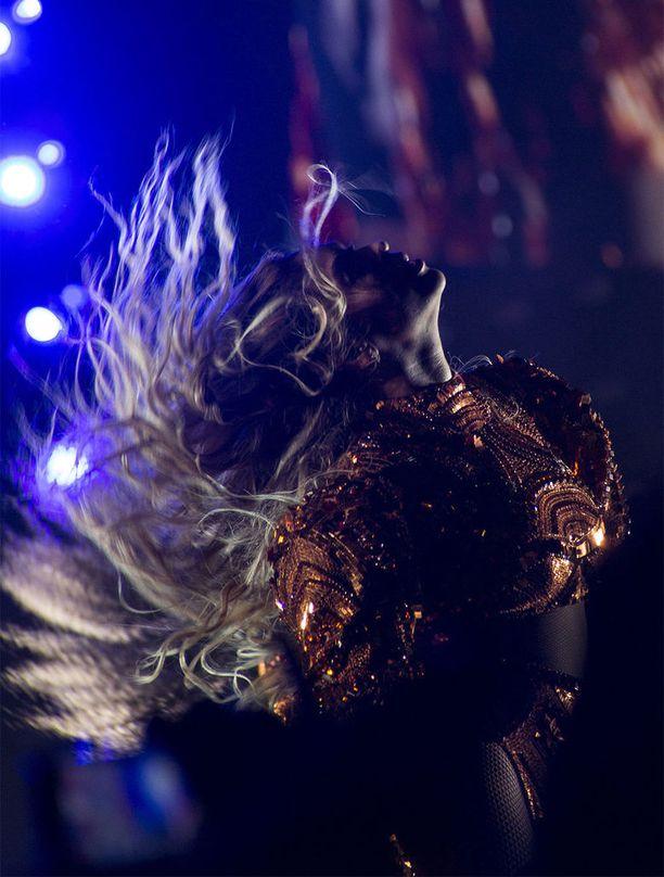 Beyoncé konserttikiertueellaan vuonna 2016.