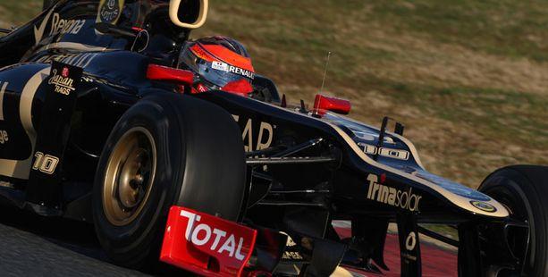 Lotus joutui päättämään testinsä tiistain osalta.