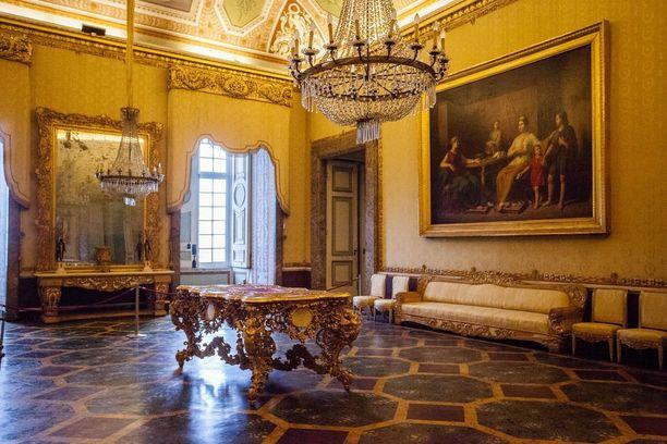 Casertan palatsi kuuluu Unescon maailmanperintölistalle.