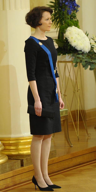 Jenni Haukio pelasi tyylissään varman päälle.
