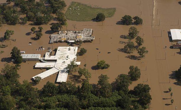 Hurrikaani aiheutti valtavia tulvia Houstonissa Teksasissa.