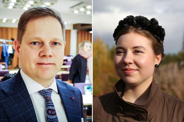 Markus Lohella (kesk) ja Riikka Karppisella (vihr) riitti jännitettävää vaalien tarkistuslaskennassa.