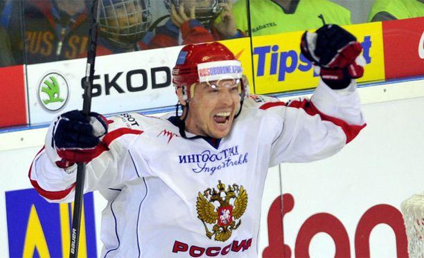Sergei Mozjakin oli hurjassa vireessä KHL-kauden avausottelussa.