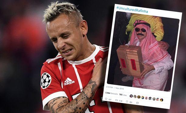 Rafinhan asuvalinta Bayernin Halloween-juhlaan ei mennyt nappiin.