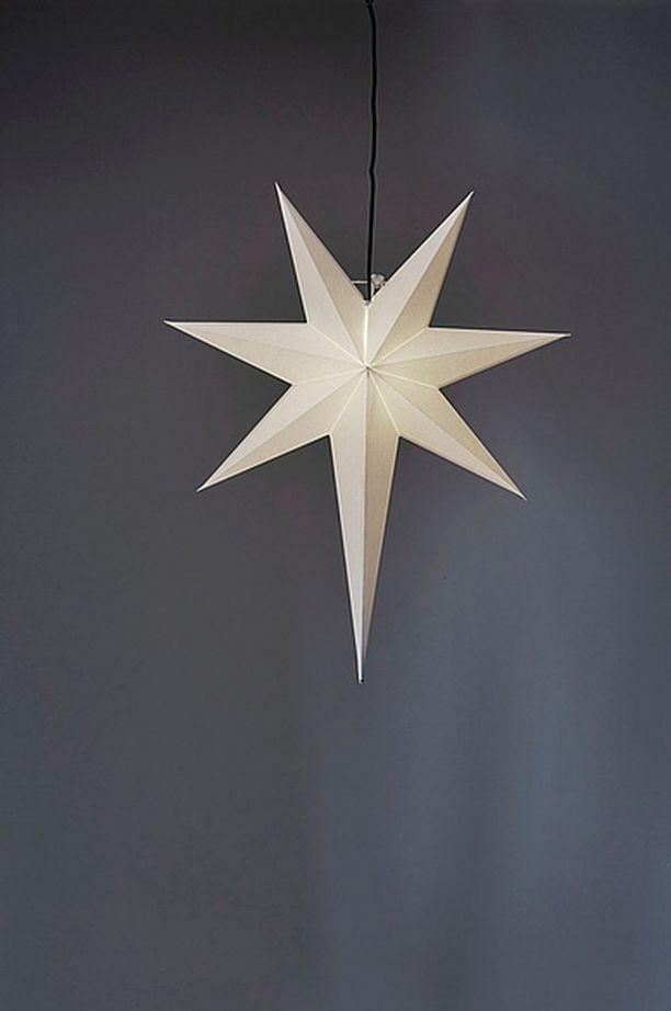 Tämä tähti on pelkistettyä tyyliä hakevalle. Valkoinen Frozen-tähti on hillitty ja tyylikäs. Tähti Jotex.fi. Hinta 39,95.