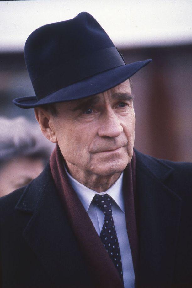 Presidentti Mauno Koivisto Parkanossa maaliskuussa 1990.Kuva: IL-Arkisto