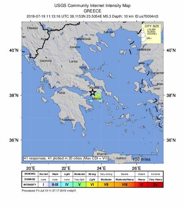 Maanjäristys tuntui reilun 20 kilometrin alueella.