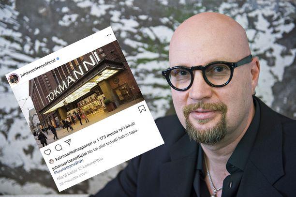 Juha Vuorinen tunnetaan huumorimiehenä.
