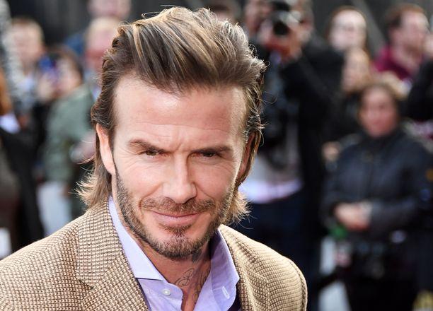 Tältä Beckhamin tukka näytti keväällä 2017.