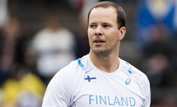 Tero Pitkämäen kausi päättyi sunnuntaina Ruotsi-ottelun voittoon. Hän nakkasi reilut 80 metriä.