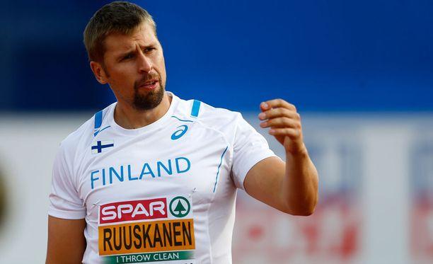 Antti Ruuskanen heitti Amsterdamissa pronssia.