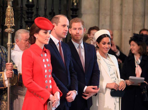 Herttuatar Meghanin kerrotaan hieroneen sopua prinssi Harryn ja Williamin välille viime jouluna.