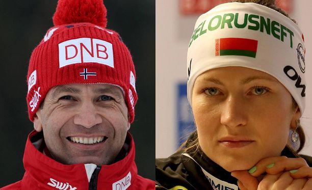 Ole Einar Björndalenin ja Darja Domratshevan mitalikokoelmista löytyy yhteensä peräti 50 MM-mitalia.