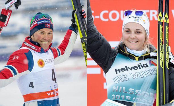 Norjan Emil Iversen ja Ruostin Stina Nilsson ovat toistaiseksi kiistäneet huhujen paikkansapitävyyden.