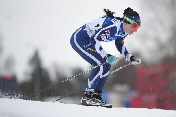 Krista Pärmäkoski hallitsi Otepään sprintin aika-ajon.