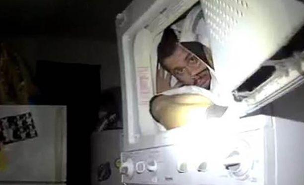 Mies yritti piiloutua poliiseilta kuivausrumpuun. Ei onnistunut.