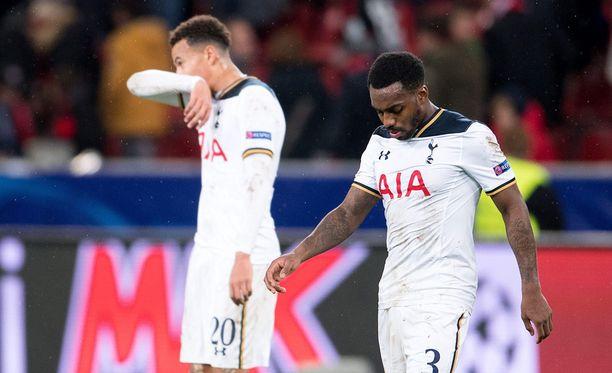 Tottenham-pelurit joutuivat pettymään Bournemouthia vastaan.