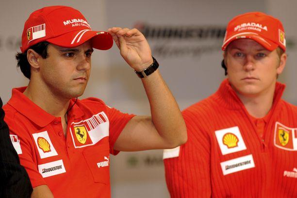 Felipe Massa ja Kimi Räikkönen ajoivat tallikavereina kolmen kauden ajan.