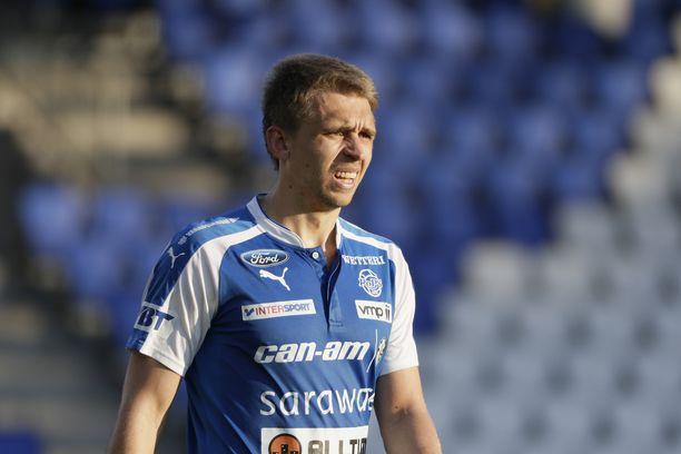 Aleksandr Kokko teki RoPS:n toisen maalin lauantaina.