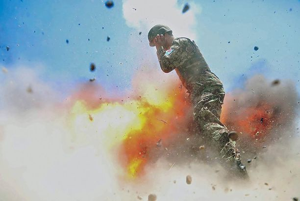 Claytonin kameralle tallentunut kuva räjähdyksestä.