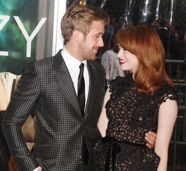 Ryan Gosling ja Emma Stone tulevat hyvin toimeen myös kuvausten ulkopuolella.