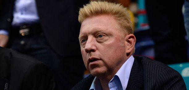 Boris Beckerin käsi näytti kivuliaalta.