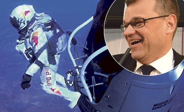 Felix Baumgartner hyppäsi avaruudesta maan pinnalle. Keskusta taas ponnahti gallupkuopasta ylös.