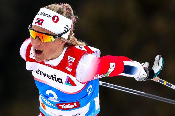 Norjan Therese Johaug dominoi naisten hiihtoa.