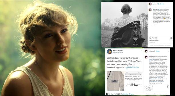 Taylor Swiftin uuden levyn logosta nousi haloo.