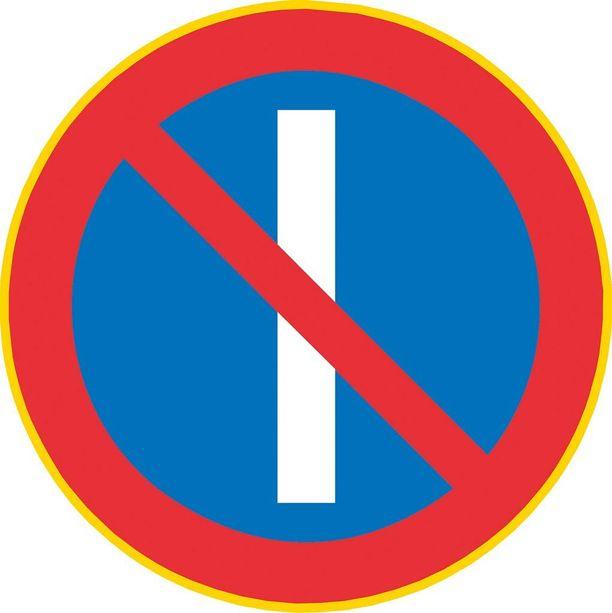 Pysäköinti kielletty parittomina päivinä.