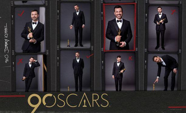 Jimmy Kimmel juontaa Oscar-gaalan jo toistamiseen.