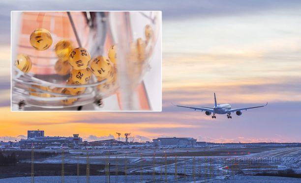 Jollakin kaukomatkalaisella voi olla edessään tavallistakin iloisempi kotiinpaluu. Loton kierroksen 3/2018 täysosuman voittanut kuponki pelattiin Helsinki-Vantaan lentoaseman kaukomatkojen lähtevien lentojen terminaalissa.
