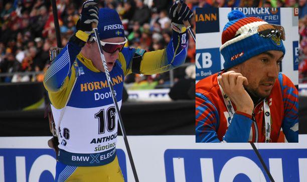 Ruotsin Sebastian Samuelsson (vas.) antoi kyytiä Aleksandr Loginoville.