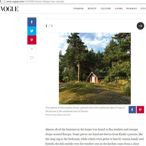 Kuvakaappaus Vogue.com