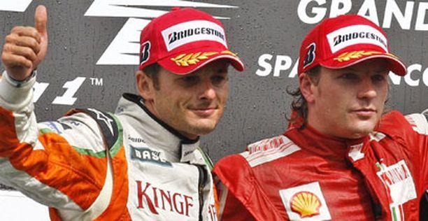 Vielä viime viikonloppuna Giancarlo Fisichella ajoi Force Indialla toiseksi Belgian GP:ssä. Voiton vei Kimi Räikkönen.