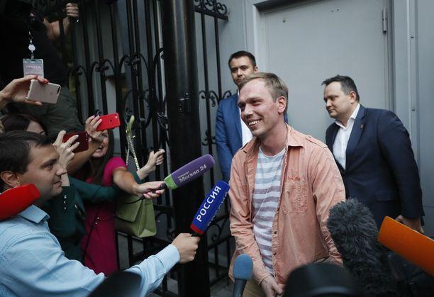 Toimittaja Ivan Golunov vapautettiin epäilyistä nopeasti.