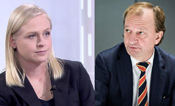 Elina Lepomäki ja Hjallis Harkimo eivät ole sote-uudistuksen puolella.
