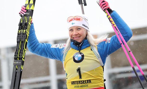 Kaisa Mäkäräinen onnistui hienosti olympiakenraalissa.