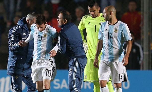 Leo Messin peli päättyi perjantaina kesken.