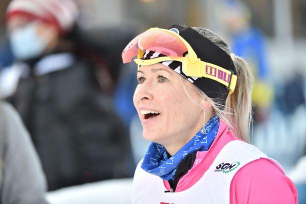 Riitta-Liisa Roponen onnistui sunnuntaina Taivalkosken Suomen cupissa.