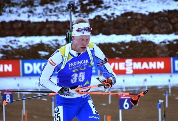 Tuomas Grönman oli 34:s lauantaina ampumahiihdon maailmancupissa Itävallassa.
