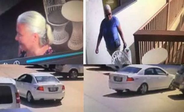 Poliisin julkaisemia kuvia Reissin pakomatkalta. Naisen kiinni saamiseksi on meneillään USA:n laajuinen jahti.