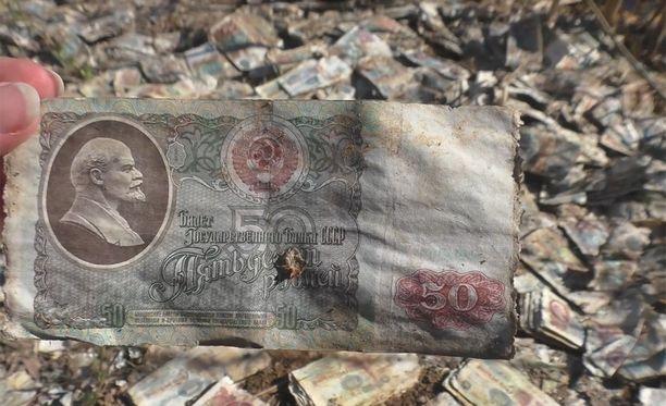 Leninin kuvien koristamat ruplat ovat vuosilta 1961-1991.