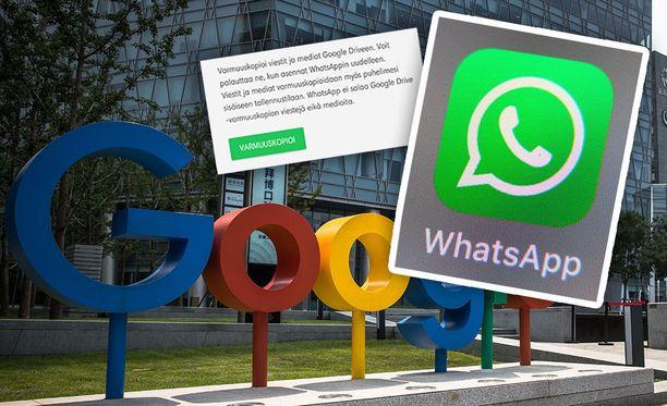 Whatsapp-keskustelut eivät vie enää tilaa Google Drivessä.