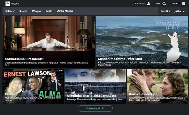 Tällä hetkellä Areenassa on sisältöjä, joita voi katsoa vain Suomessa. Jatkossa Areena pystytään katsomaan koko EU:n alueella.