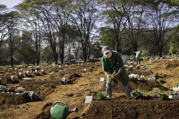Brasilian hautausmaat ovat joutuneet valtaamaan uusia alueita koronaepidemian takia.