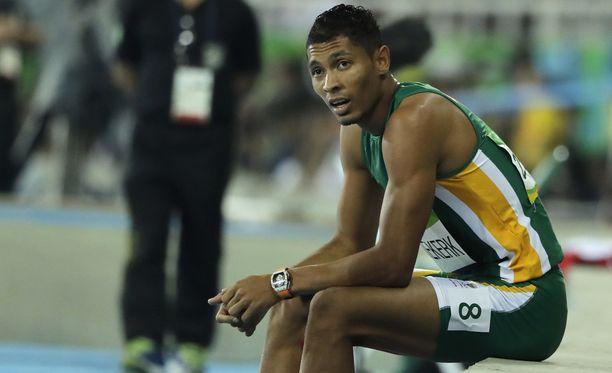 Wayde van Niekerkin ME-aika herätti epäilyksiä dopingista kansainvälisessä lehdistötilaisuudessa Riossa.