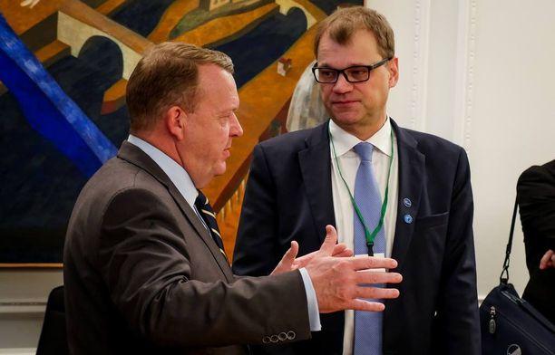 Pääministeri Juha Sipilä Pohjoismaiden neuvoston kokouksessa.