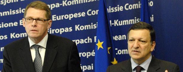 Pääministeri Matti Vanhanen ja Barroso tapasivat Brysselissä keskiviikkona.